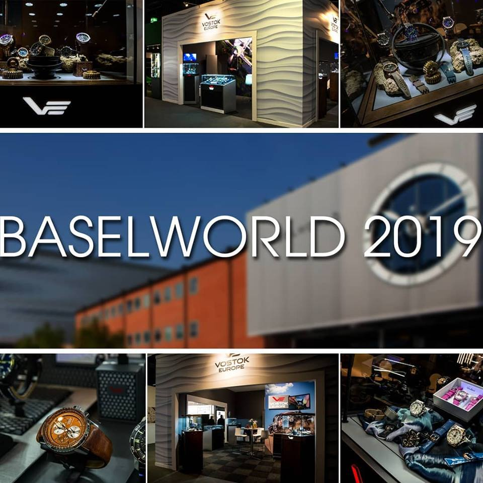Collage from Vostok-Europe of Basel World 2019
